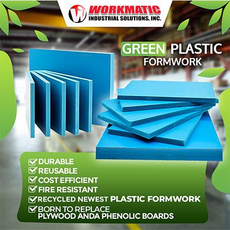 Green Plastic Formwork
